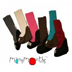 Booties lana merino ManyMonth gris, natural, rosa, chocolate, turquesa, rojo